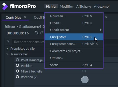 filmora pro export video