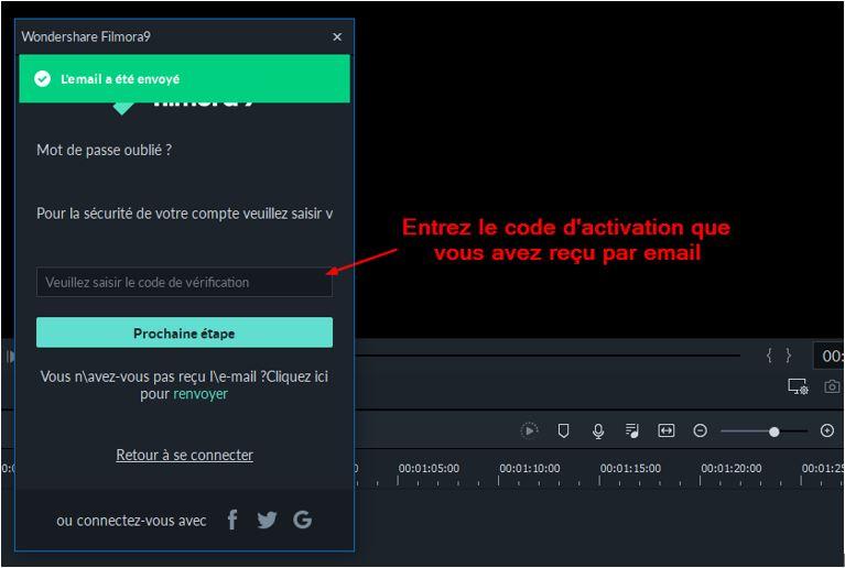 Email envoye Filmora9