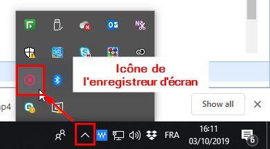 icône enregistreur d'écran