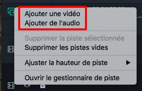 Ajouter une nouvelle piste audio - Filmora Mac