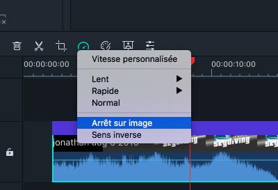 Filmora Mac arrêt sur image