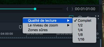 Contrôle de la qualité de lecture - Filmora Mac
