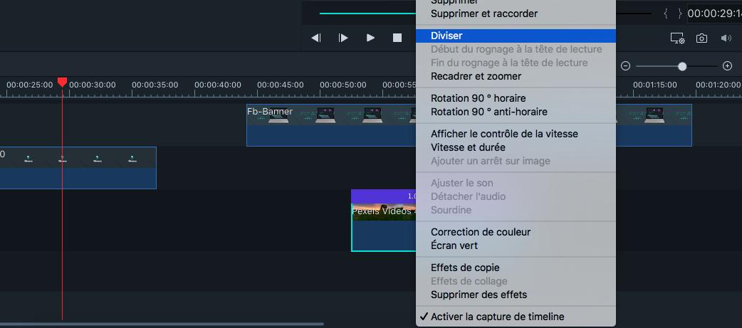 Rogner des clips avec Filmora pour Mac