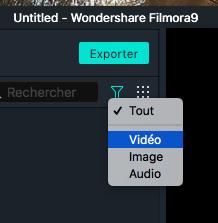 Filtrer un fichier média sur Mac