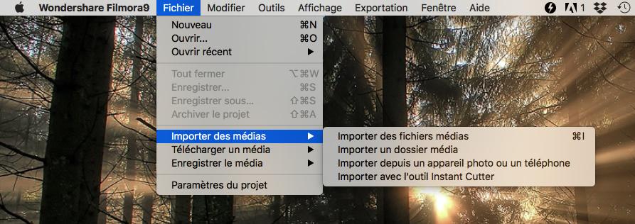 Importer un fichier média sur Mac 2