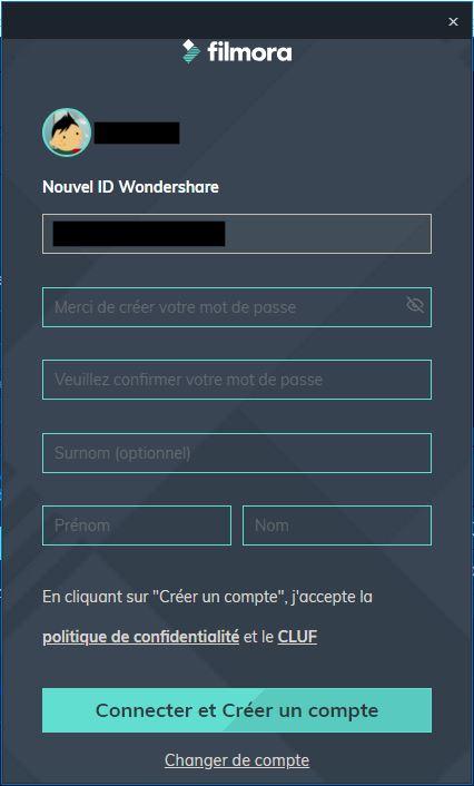 Créer son Wondershare ID via Twitter