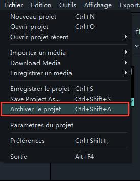 Archiver projet