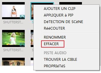 delete media clips