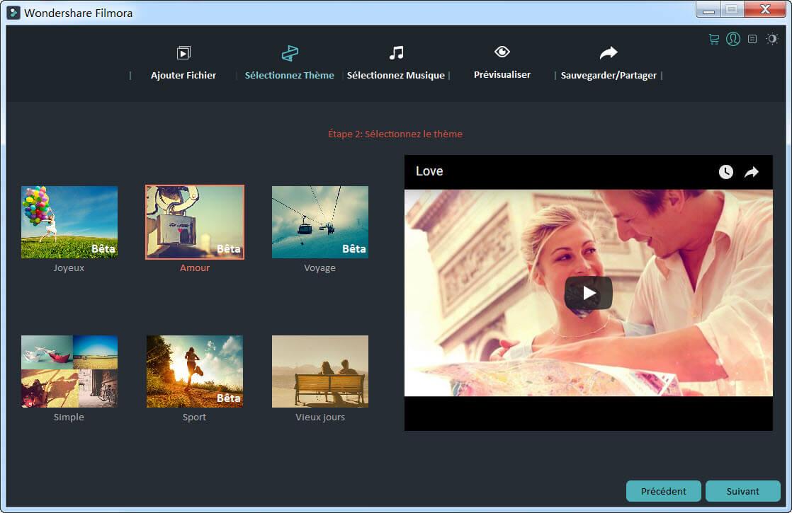 logiciel montage vidéo gratuit français Wondershare filmora