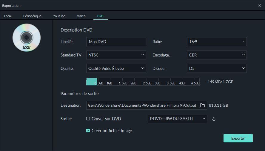 export dvd