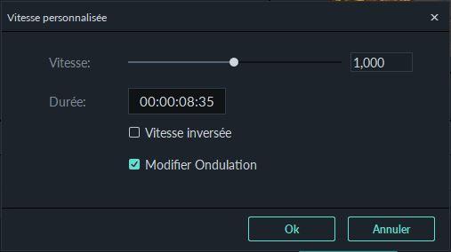 Modifier la vitesse de la vidéo