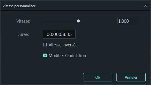 inverser la vitesse dans Filmora9 pour Windows