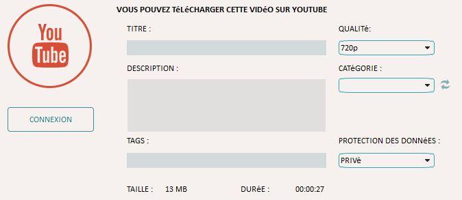 télécharger sur Youtube