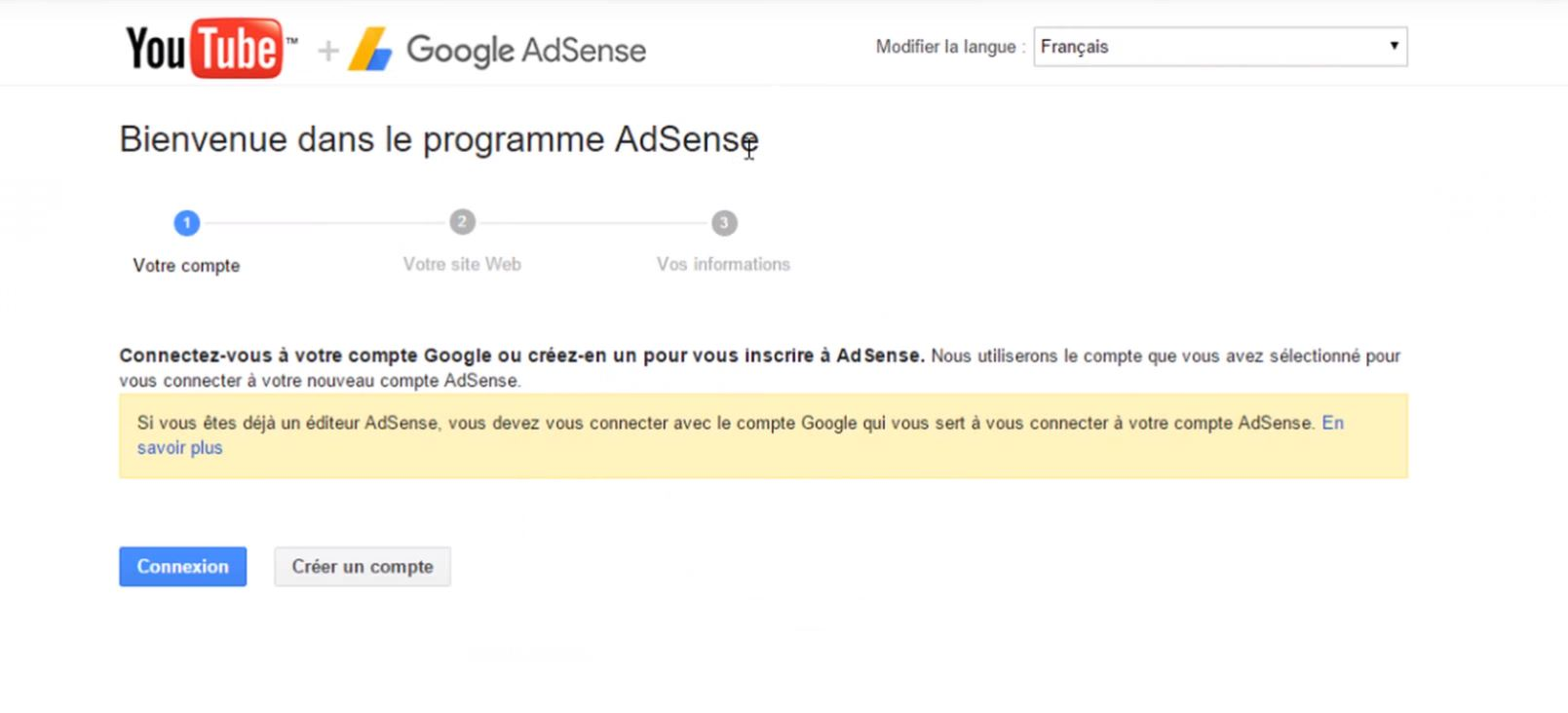 adsense sign up