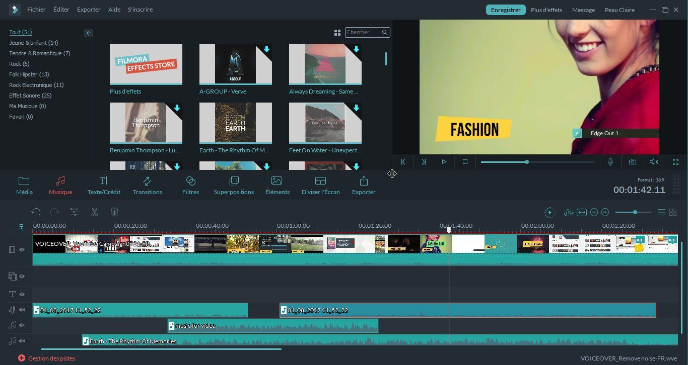 application montage video - Wondershare Filmora