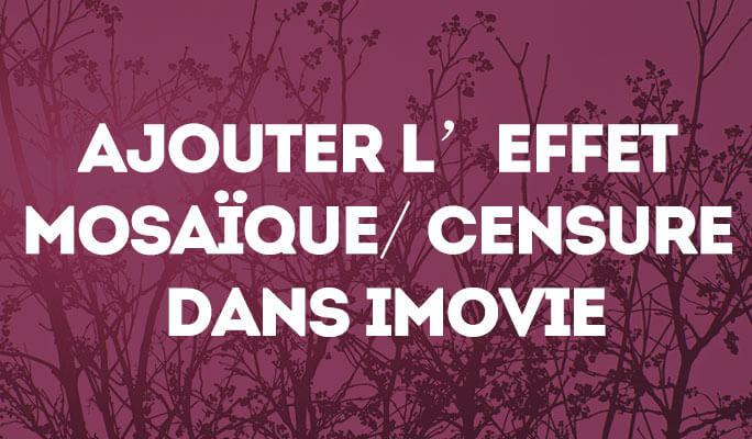 Ajouter l'effet mosaïque/ censure dans iMovie