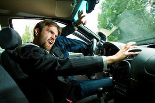 L'accident de voiture écran vert