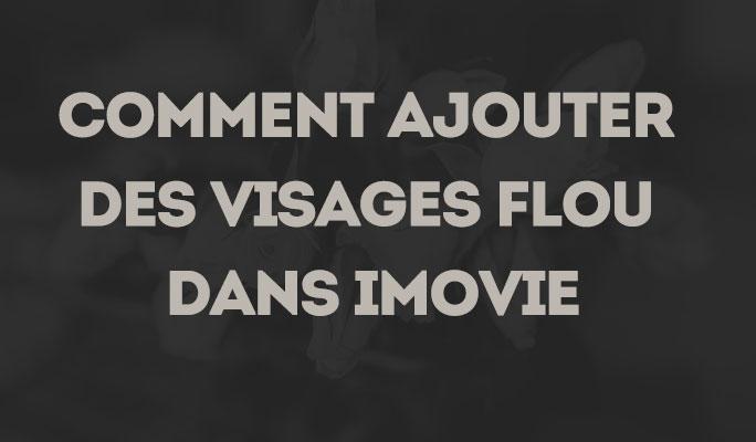 Comment Ajouter des Visages Flou dans iMovie