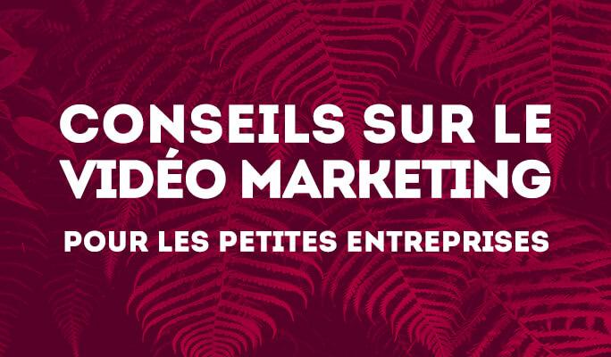 Conseils sur le Vidéo Marketing pour les petites entreprises