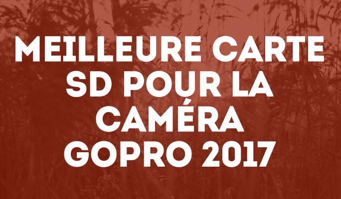Meilleure Carte SD pour la Caméra GoPro 2017
