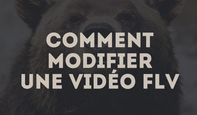 Comment modifier une vidéo FLV?