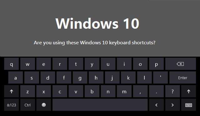 nouveaux raccourcis clavier