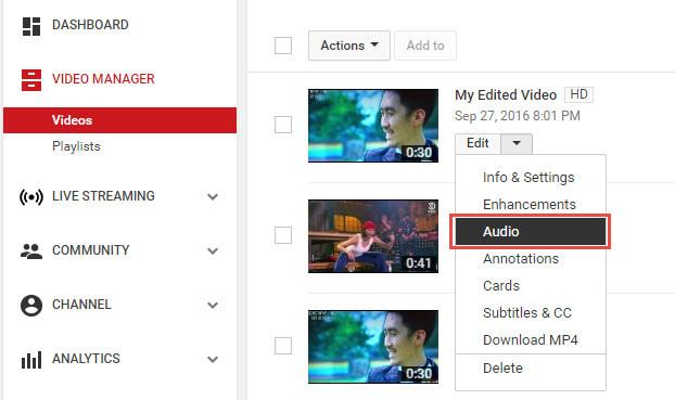 Ajouter de la Musique à une Vidéo YouTube 2