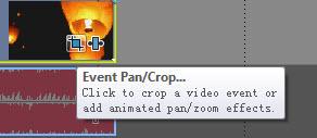 Appuyez sur le bouton Event pan/crop