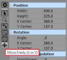 Sélectionner l'icône Move Freely dans la fenêtre du logiciel.