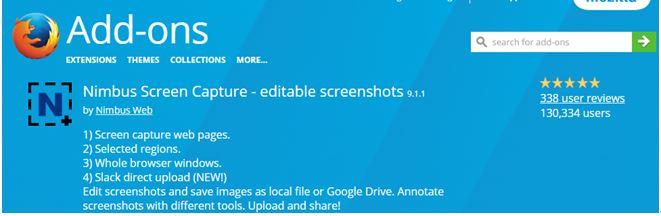 Nimbus Screen Capture