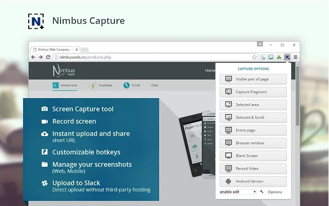 Nimbus ScreenShot et Screencast