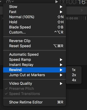 Rebobiner les Vidéos en utilisant Final Cut Pro -1