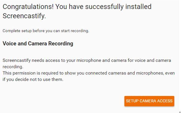 Installez la voix et la caméra