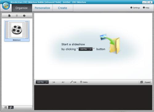 imovie windows - Écran montrant la facilité à créer un slideshow pour iMovie pc