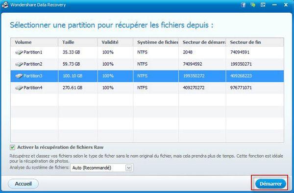 recuperer partition perdue de disque dur externe
