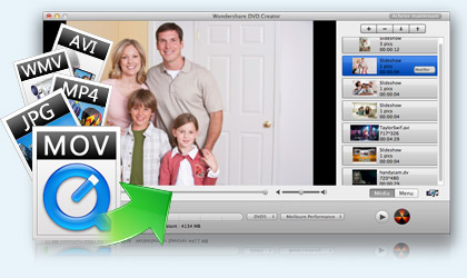 DVD Creator pour Mac key feature
