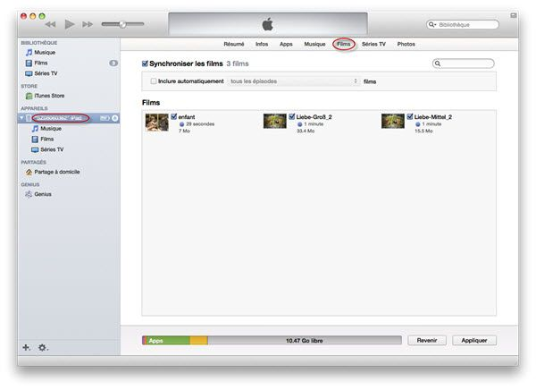 transferer flash vers iPad via itunes