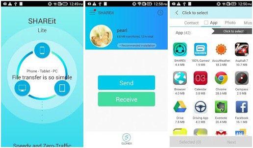 Top 10 applications pour transférer des fichiers android
