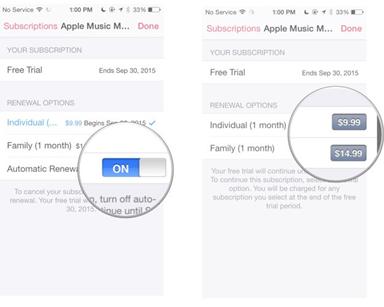 Conseils sur l'abonnement Apple Music