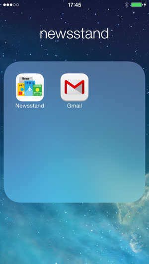 delete newsstand on iPhone