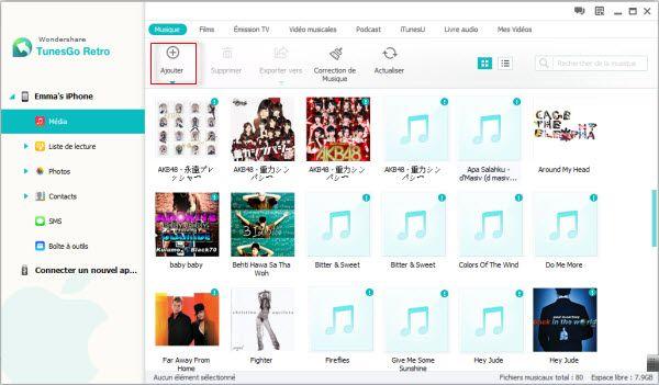 Mettre de la musique sur ipad