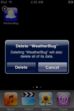 supprimer des application iphone