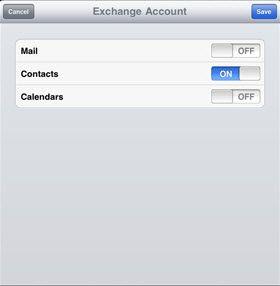 compte exchange sur ipad