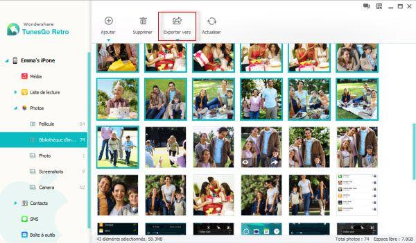 recuperer vos photos ipad