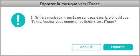 transferer musique iPhone mac
