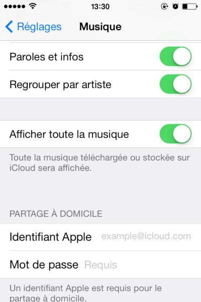 transferer de la musique sur iOS 7
