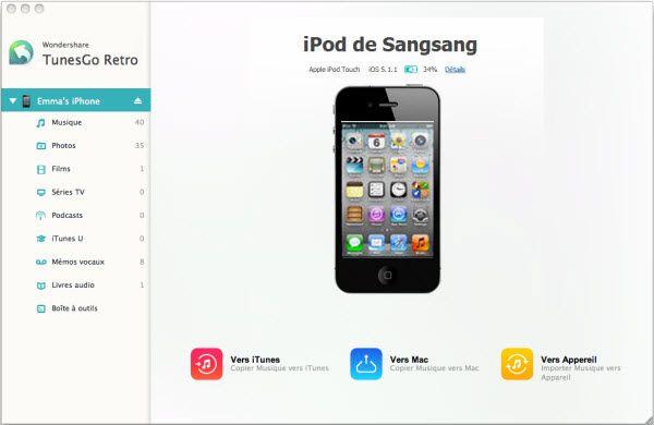 Comment exporter la musique d'un iPod touch vers Mac OS X