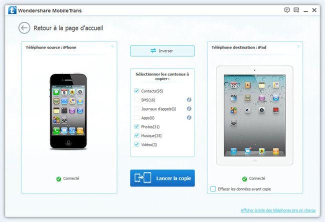 connecter vos iphone et ipad