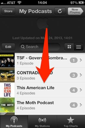 supprimer podcast iPhone