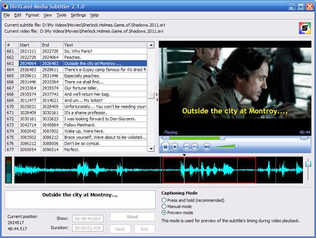Editeur vidéo DivXLand Media Subtitler